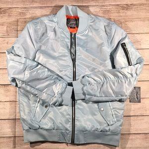 Other - Baby blue bomber jacket men's size medium